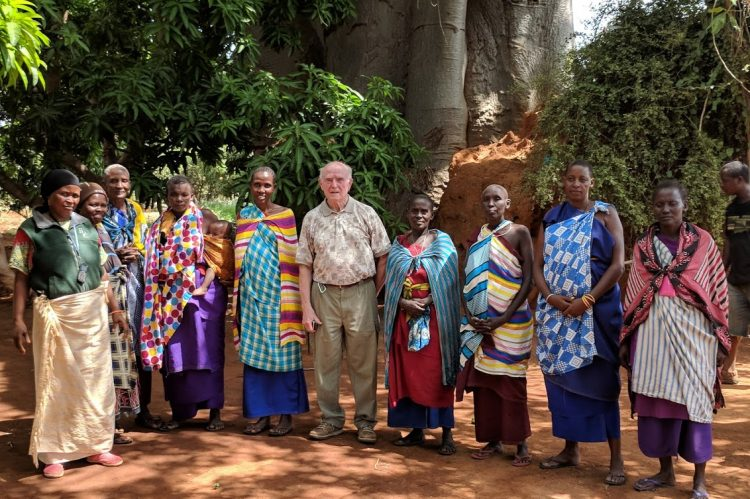 Chuck and women farmers at Bwiko